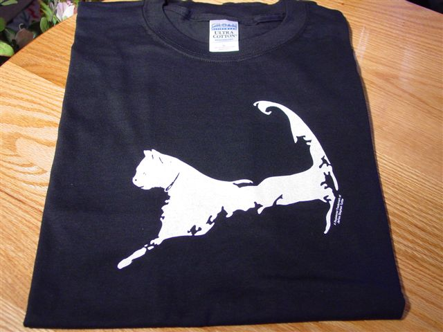 Cape Cat Map T-Shirt (Cape Cat Black)