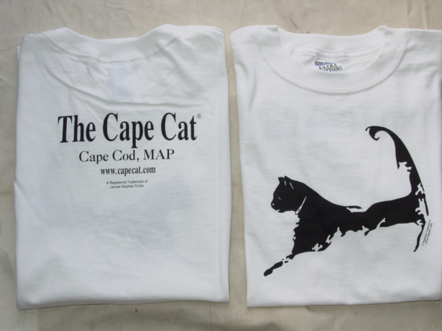 Cape Cat Map T-Shirt (Beach Sand Pure White)